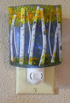 Aspen Fused Glass Night Light