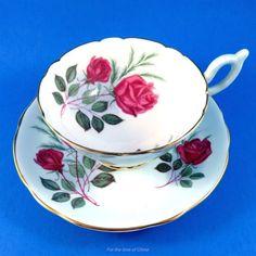 Light Blue & Rose Bouquet Heathcote Tea Cup and Saucer
