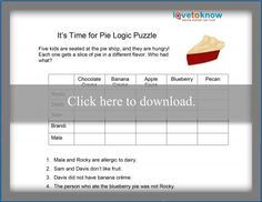 Logic puzzles can be tricky, but they are very beneficial because they teach critical thinking and reasoning skills. Teaching Critical Thinking, Pie Shop, Third Grade Science, Physics Classroom, Forensic Anthropology, Logic Puzzles, Developmental Psychology, Three Little Pigs, Materials Science