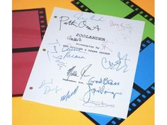 Zoolander Movie Script Signed Screenplay Autographed: Ben Stiller, Owen Wilson, Will Ferrell, Christine Taylor, Jennifer Coolidge & More by hollywoodfinds on Etsy https://www.etsy.com/listing/242021678/zoolander-movie-script-signed-screenplay