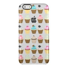 Cupcakes Pattern Clear iPhone 6/6S Case