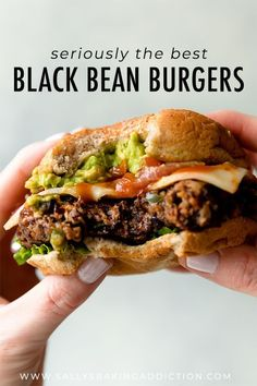 BEST black bean burgers, grilled or baked! Meat lovers went crazy for these . The BEST black bean burgers, grilled or baked! Meat lovers went crazy for these .The BEST black bean burgers, grilled or baked! Meat lovers went crazy for these . Whole Food Recipes, Diet Recipes, Cooking Recipes, Healthy Recipes, Veggie Meat Recipes, Veggie Food, Ham Recipes, Recipies, Recipes Dinner
