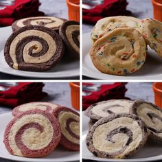 Mix-And-Match Swirl Cookies Recipe by Tasty Baking Recipes, Cookie Recipes, Dessert Recipes, Pastry Recipes, Delicious Desserts, Yummy Food, Tasty Videos, Food Videos, Cooking Videos