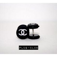 Chanel Fake Plugs by Plug-Club Fake Plugs, Gauges Plugs, Fake Piercing, Piercings, Body Jewelry, Jewlery, Plugs Earrings, Birthday Wishes, Belly Button Rings