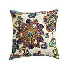 beaded pillows | Multi-Beaded Pillow - Polyvore