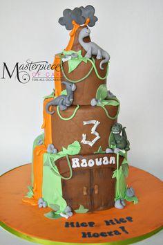 Dinosaur Themed Birthday Cake - Original design by Little Cherry Cake Company.