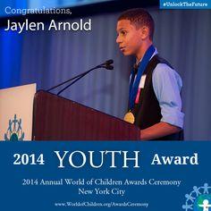 Jaylen Arnold, 2014 Youth Award