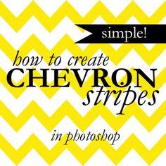 Chevron Stripes in Photoshop    (super simple trick!)