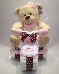 Triciclo torta de pañales para Girl - 9990163 - Baby Girl - tortas de pañales - por