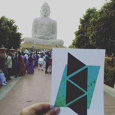 Symbhav also decided to stop over at the famous Buddha statue at Bodh Gaya Bihar.  #Theadventuresofsymbhav  #symbhav16 #Eatpraylovetravel by symbhav