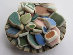 Ceramic sea glass vintage beach glass by norwesterseaglass on Etsy, $49.00