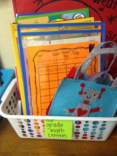 Looking to organize your math centers and materials? I've got the perfect things just for you!