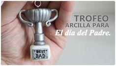 Llavero Trofeo Día del Padre (Arcilla polimérica)