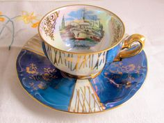So many old tea sets.Where to put it all for display to see all the beautiful antiques. Coffee Cups And Saucers, Tea Cup Saucer, Tea Cups, Liner, My Cup Of Tea, Vintage China, Tea Time, Tea Party, Cabinet