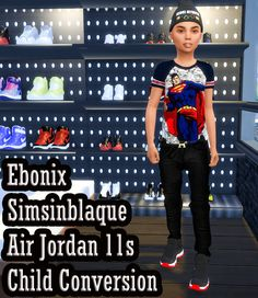 ALL MY SIMS — ebonixsimblr:  Ebonix SimsinBlaque Air Jordan 11s...