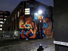 """""""The Union Jack"""": Neues farbenfrohes Mural von REKA in Shoreditch, London  Im Hipsterparadies Shoreditch, im Londoner Osten, hat James Reka alias REKA soeben sein neuestes Mural """"The Union Jack"""" hinterlassen. Der gebür..."""