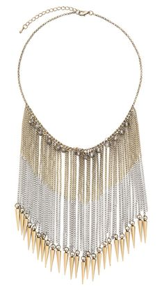 Spike chain necklace