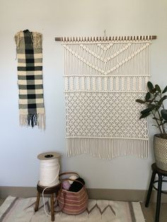 Macrame Wall Hanging Forest by HollyMuellerHome on Etsy