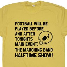 Marching Band T Shirt Vintage Soft Funny Band Camp Shirt Halftime Show Trumpet Tuba Flute Bass Drum Shirts