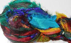 Recycled Sari Silk Ribbon Yarn  Multi 3 shine by JuliaLCraft, $5.00