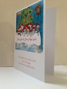 Julkort - Tomtenissar (mjukt kort)