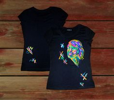 FREE SHIPPING WORLDWIDE for this item. PROMO. Wearable art. Hand painted t-shirt with professional acrylic paints. In single copy. You dont meet