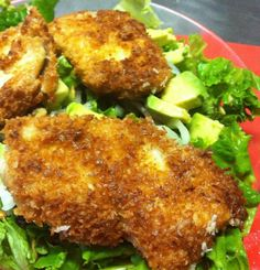 Recipe for Coconut Crispy Chicken Salad - One of my favorite things to eat has always been Crispy Chicken Salad - I mean salad is always healthy right? It was healthy and delicious!