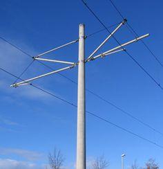Catenary poles urban transit - Europoles