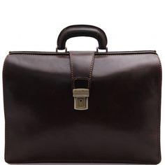 Dark Brown leather doctors bag.Rigid structureInside part3 compartmentsInside zip pocketBusiness card holderMobile phone holderMulti-function pocketPen holder -
