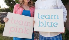 TEAM PINK or BLUE  Featured on Etsy Blog by TheGlitterPalace, $34.00