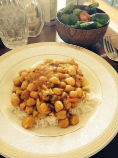Chick peas Masala made at home! Spicy and delicious