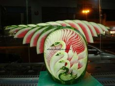 Fruit Carving Arrangements and Food Garnishes: The Fall Carving Contest Stage 2 Voting
