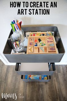 How creating an art station in my home has kept my kids busy for hours on end and helped to contain their messes!