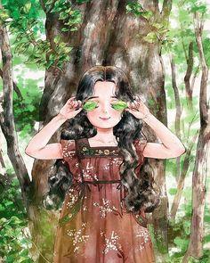 Life Illustration Aeppol Happiness In Living Alone Revealed In Illustrations By Korean Artist Girl Cartoon, Cartoon Art, Mode Poster, Forest Girl, Jolie Photo, Korean Artist, Illustration Girl, Anime Art Girl, Aesthetic Art