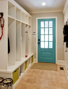 I like the painted door!