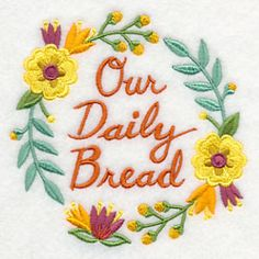 Our Daily Bread Wreath design (K5022) from www.Emblibrary.com