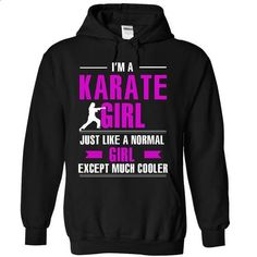 Karate girl is cooler - #tee quotes #oversized sweater. ORDER HERE => https://www.sunfrog.com/LifeStyle/Karate-girl-is-cooler-6710-Black-13425976-Hoodie.html?68278