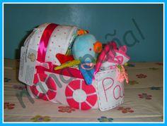 PAÑALES PARA REGALAR: Cochecito de pañales para Paula