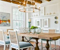 Perfect Exposed Beams, Heart Pine Floors And Bright Pops Of Color Add Enliven This  Cottage