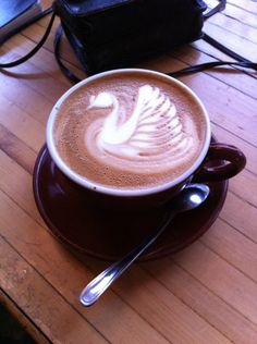 wow,amazing! wish I could make a coffe with a swan markings on the foam:)