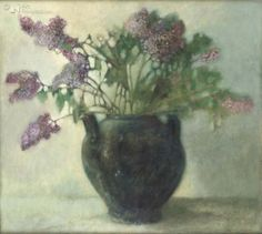 Pieter Knorr Painted Flowers, Botanical Art, Still Life, Sage, Dutch, Mint, Illustrations, Contemporary, Drawings