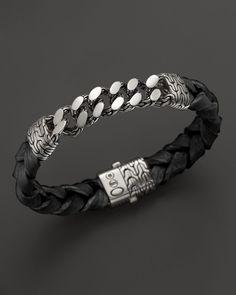 John Hardy Men's Sterling Silver Classic Chain Gourmette Medium Link ID Bracelet | Bloomingdales's
