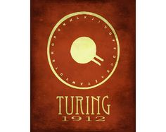 12x18 Science Art Poster Alan Turing Code Breaker Machine Steampunk Rock Star Scientist Poster Fine Art Computer Geek Print Cypher WW II. $40.00, via Etsy.