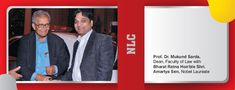 Prof.Dr. Mukund Sarda Dean,Faculty Of Law With Bharat Ratna Hon'ble Shri Amartya Sen,Nobel Laureate.