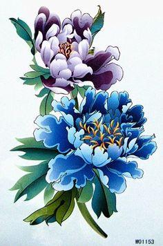 Flower Tattoo Designs, Flower Tattoos, Body Art Tattoos, Sleeve Tattoos, King Horse, Chrysanthemum Tattoo, Oriental Flowers, Geniale Tattoos, Asian Tattoos