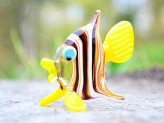 Fish Toys Murano Animals Tiny Small Figure Glass Sculpture | Etsy Elephant Sculpture, Sculpture Art, Biggest Elephant, Black Decor, Glass Collection, Fish Tank, Glass Art, Art Pieces, Toys
