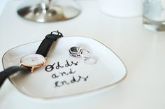 MAKE A KATE SPADE - ODDS AND ENDS - INSPIRED JEWELRY DISH