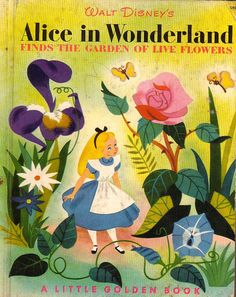 Disney's Alice in Wonderland has influenced me alot since babyhood. I remember my parents show me Alice in Wonderland cartoon, and brought. Lewis Carroll, Old Children's Books, Vintage Children's Books, Kid Books, Baby Books, Vintage Kids, Vintage Art, Children's Book Illustration, Illustrations