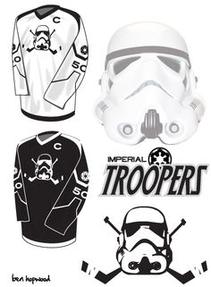 An incredibly fun mash-up! The Universe of #StarWars and Ice Hockey!