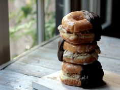 Doughnut Coffee Ice Cream Sandwiches